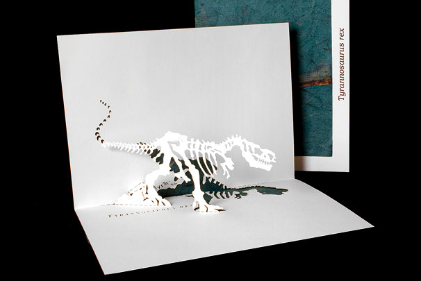 T Rex Origami Architecture Pop Up Cards By Live Your Dream Designs