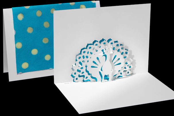 peacock origami architecture pop up cards by live your dream designs